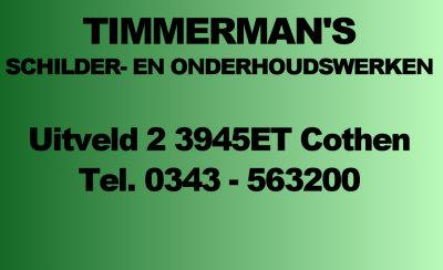 Timmermans Schilder- en onderhoudswerken