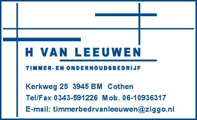 H v. Leeuwen tommer- en onderhoudsbedrijf